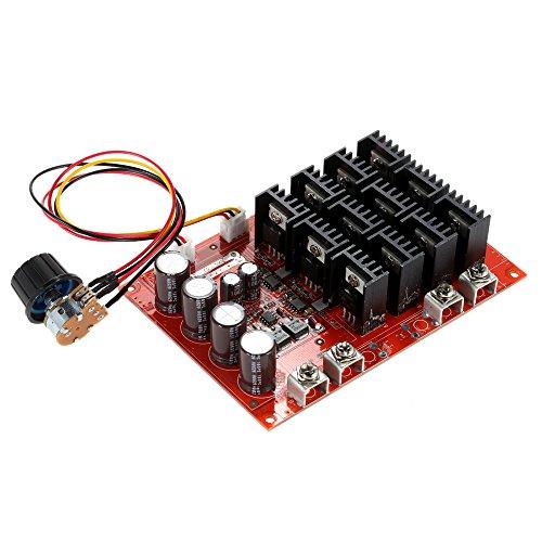 KKmoon 10-50V/60A/3000W DC Motor Speed Control PWM HHO RC Controller 12V 24V 36V 40V 50V Geschwindigkeit Einsteller mit Gehäuse