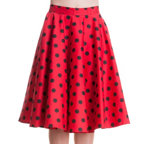 Hell Bunny Rock ADELAIDE Skirt red Red
