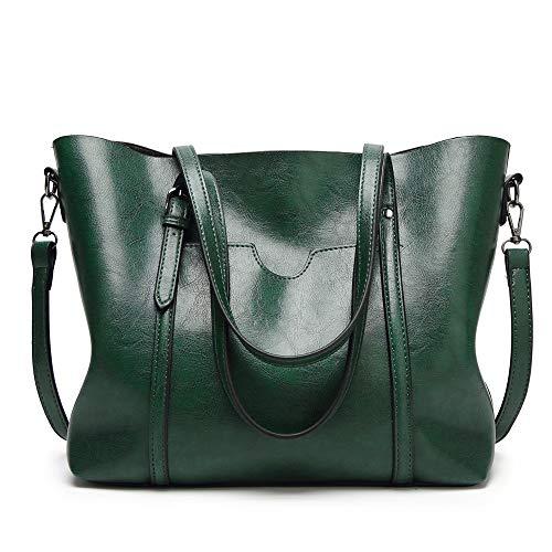 Frauen PU Leder Hand einstellbare Schulter Handtaschen Schultergurt Einstellung Crossbody Damen Cross-Body-Taschen Für den täglichen Einkauf ( Farbe : Grün , Größe : Free size ) ()