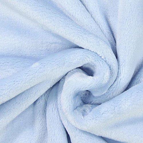Fabulous Fabrics Teddy Plüsch Carole hellblau - Meterware ab 0,5m - zum Nähen von Decken, Kissen und Futter -