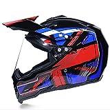 Swei Erwachsene Motorrad-Motocross Motorbike Helme Full Face Motorcycle Helm D.O.T Standard Quad Bike ATV Go Karting Helm für Männer, Frauen (S, M, L, XL),L