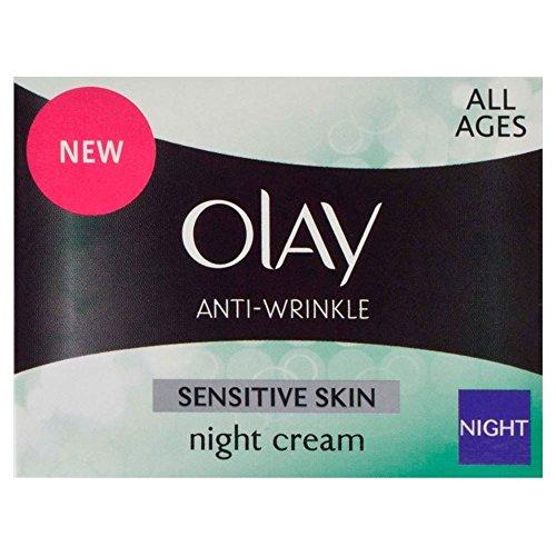 Olay Anti rides Nuit Sensitive Crème (50ml) - Paquet de 6