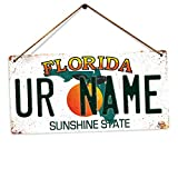 Toasted Merch Personalisierbare amerikanische Nummernschilder, personalisierbar, personalisierbar, Florida, Twine