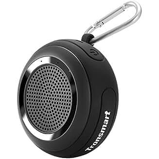Altavoz Bluetooth Portatiles Impermeable, Tronsmart Splash 7W Mini Altavoz IP67 TWS y TF Tarjeta, con Micrófono y Manos Libres, 10 Hora de Emisión Continua para Playa, Ducha, Viaje y más -Negro