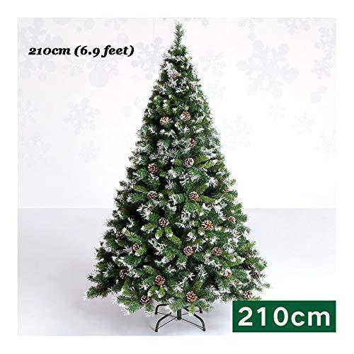 SDCNDAND Premium Scharnier Künstlich Weihnachten Kiefer Einfache Montage Massive Metallbeine Grün Beste Auserlesene Produkte 3.9 Fuß/4.9 Fuß/5.9 Fuß/6.9 Fuß,210cm(6.9feet) -