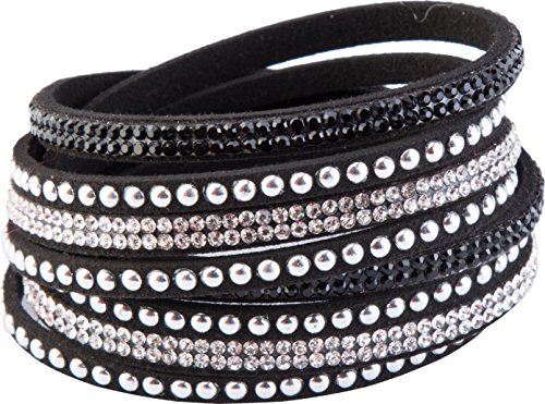 84 Serie Leder (Crystal-Line Goldline - COMBINATION 4 YOU JEWELRY Armbänder Wickelarmband (Nr.24))