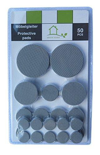 Platte Schranktüren (Möbelgleiter Rutschstopper Sortiment 50-teilig grau selbstklebend Premium-Sortiment)