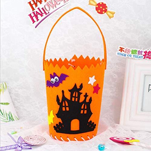 Halloween Handmade DIY Non-Woven Fabric Candy Bag Kids Gift Bag Tote Bag