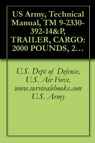 US Army, Technical Manual, TM 9-2330-392-14&P, TRAILER, CARGO: 2000 POUNDS, 2-WHEEL M1101, (NSN 2330-01-387-5443), (EIC: CBC), TRAILER, CARGO: 2840 POUNDS (English Edition)