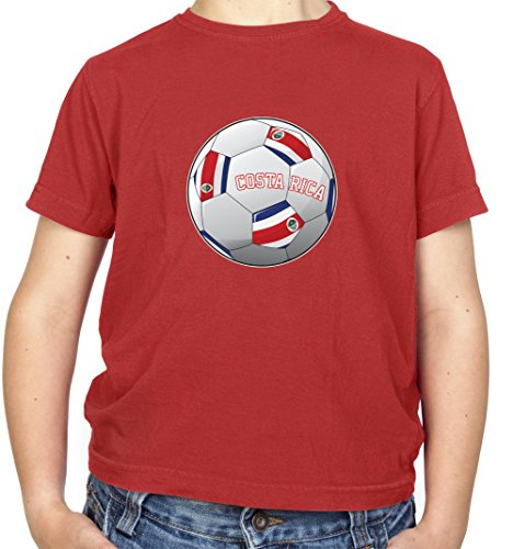 Dressdown Country Football Costa Rica - Childrens/Kids T-Shirt - 10 Colours - Ages 3-14 Years