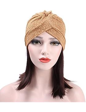 zhouba para mujeres musulmanas Beanie gorro de algodón turbante gorro de estilo indio hijab pañuelo para la cabeza...