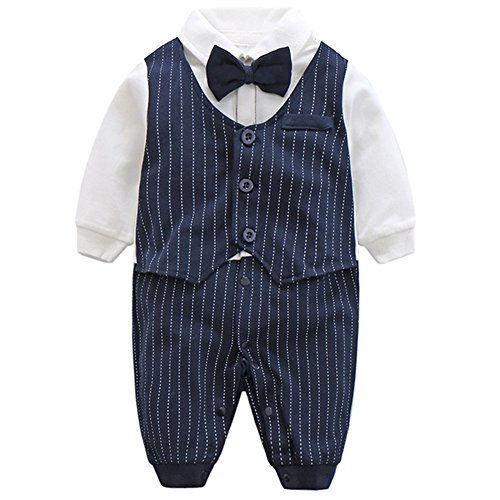 Fairy Baby Baby Outfits Langarm Strampler Jungen Smoking -