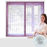 Amazing_home Sommer Fliegengitter für Fenster, magnetische fliegen die Fenster - Magnet Gaze portiere Magnet Sand Fenster anti - mücken - vorhang-B-120x130cm(47x51inch)