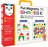 #7: Play Panda Fun Magnetic Shapes (Junior): Type 1 with 44 Magnetic Shapes, 164 Pattern Book, Magnetic Board and Display Stand