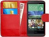 G-Shield Hülle für HTC Desire 510 Klapphülle mit Kartenfach - Rot