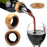 yobansa gota goteo tapón anillos de goteo de cuello de la botella vino botella Alcohol regalo perfecto para los amantes del vino (Pack de 2)