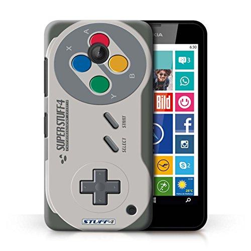 KOBALT® Hülle Case für Nokia Lumia 630 | Nintendo Game Boy Entwurf | Spielkonsolen Kollektion Super Nintendo