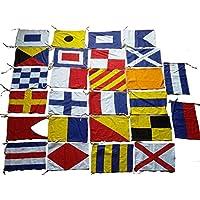 Marine Product - Marine Navy Signal Code Flag Set - 100% Cotton -Set of Total 26 Flag