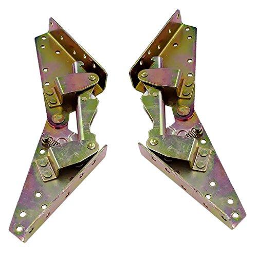 Sharplace Verstellbar Schlafsofa Füße Scharnier Möbel Beine 3 Positions Verstellbarer Winkel Scharnier