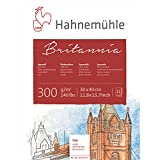 Hahnemühle Aquarellkarton Britannia, rau, 300 g/m², 30 x 40 cm, 12 Blatt