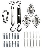 Kebinfen Kit de Fixation Voile d'ombrage pour Les voiles Triangulaires - Accessoires de Voile d'ombrage pour l'extérieur Patio Jardin Voiles d'ombrage - 8inch Acier Inoxydable Super Heavy Duty