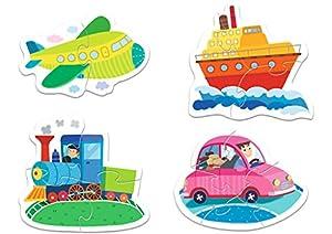 TREFL-Puzzle Baby Los vehículos 2-3-4-5Piezas, 36057U