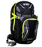 Terra Peak Slipstream - Zaino, Nero (nero/verde lime), 48 x 30 x 10 cm, 8 l