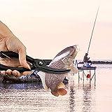 Alicates de Pesca alicates de Agua Salada Alicates de Pesca Pinza de Pesca Herramienta de Engranaje ABS Grip Tackle Fish Lip Holder Trigger Clamp with Ring