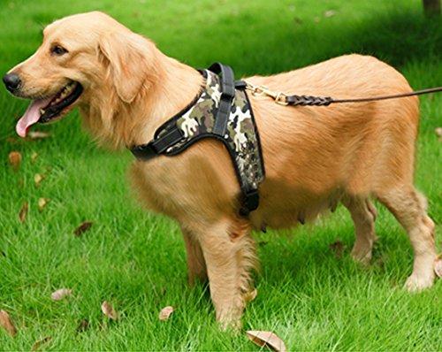 Budd vorne Range Hundegeschirr verstellbar Oxford Gepolsterte Weste kein Ziehen Heavy Duty Halfter Geschirr für kleine medium Große Haustiere, XL, Camouflage -