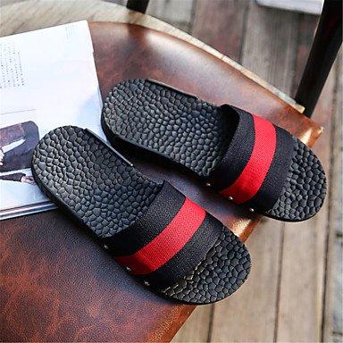 Slippers & amp da uomo;Coppia scarpe leggere suole tessuto casual Heel Flat Black / Bianco Verde Rosso W sandali US10.5 / EU43 / UK9.5 / CN45