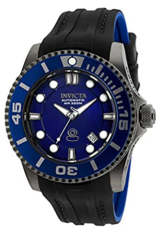Invicta Men's 'Pro Diver' Automatic Stainless Steel and Silicone Casual Watch, Color:Black (Model: 20204)