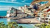 ZSFFSZ Jigsaw Puzzle 1000 Piece Cinque Terre Superba Vista Paesaggio, Mare, Spiaggia Puzzle Classico Puzzle 3D Fai da Te Kit Giocattolo di Legno Home Decor