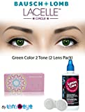 #10: New Lacelle Circle Green Color Zeropower Monthly Contact Lens with Free Lens Care Kit (2 Lens Pack) By Lens4Eye
