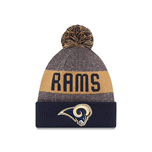 Los Angeles Rams New Era 2016 NFL Sideline On Field Sport Knit Hat Hut - Navy Cuff