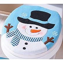 Vovotrade 2PCS Set Fancy Snowman coprivaso e bagno tappeto Set, decorazioni di Natale