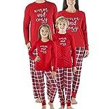 Riou Weihnachten Set Baby Kleidung Pullover Pyjama Outfits Set Familie Frohe Weihnachts kostüme Junge Mädchen Xmas Familien Pyjamas Set Schlafanzug (S, Mom)