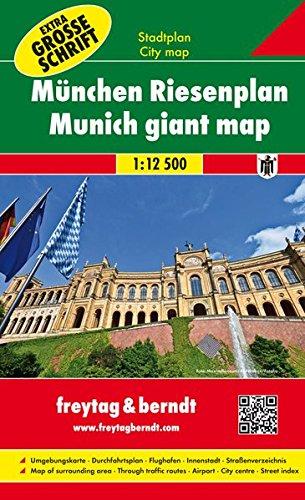 Freytag Berndt Stadtpläne, München Riesenplan, mit extra großer Schrift, Spiralbindung - Maßstab 1:12.500: Schaal 1:12 500