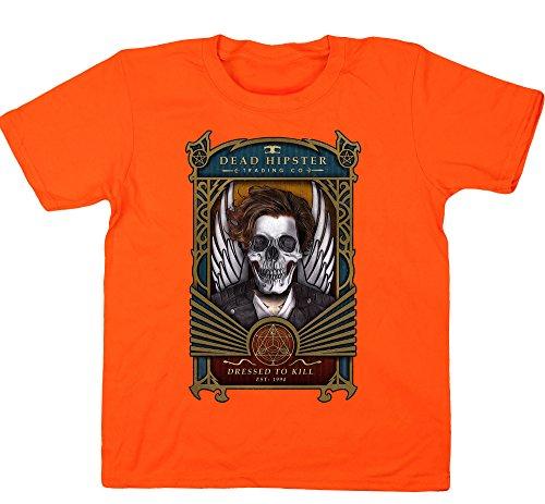 Hippowarehouse Mädchen Kapuzenpullover, orange, 50007-DTG-KIDS-O12-13