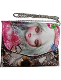 Adara Collections Girls Multicolor Rexine Sling Bag - B0754LBWM5