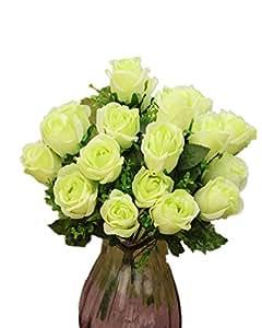 DAYAN Rosa Fiori Artificiali Fiore Piante Bouquet Decorazione per Cerimonia Matrimonio Party Casa colore verde