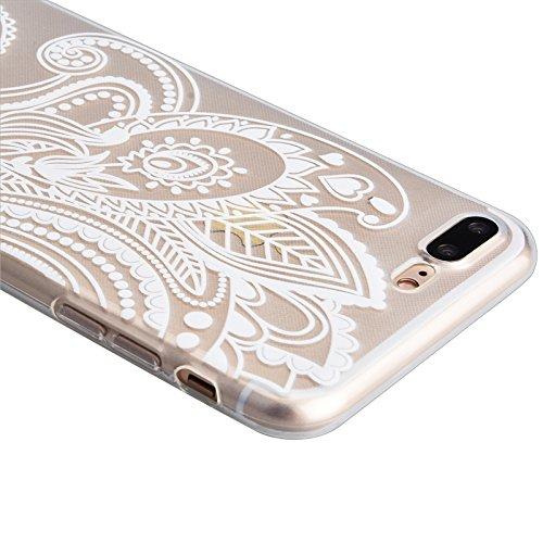 iPhone 7 Case, Yokata Weich TPU Transparent Hülle Handyhülle Schutzhülle Durchsichtig Crystal Clear Case Backcover Bumper + 1*Stylus Pen - Lotus Narzissen