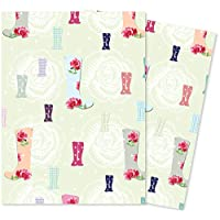 Jonathan Glick Giftwrap - Garden Wellies - 2 Sheets of Wrapping Paper - 70x50cm