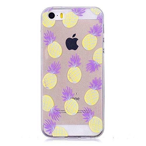 DYSu Hülle für Apple iPhone 5/ 5S/ SE Cartoon Pony Transparent TPU Schutzhülle Weich Silikon Handyhülle Schale Stoßkasten Cover Case Bumper Tasche für Apple iPhone 5/ 5S/ SE