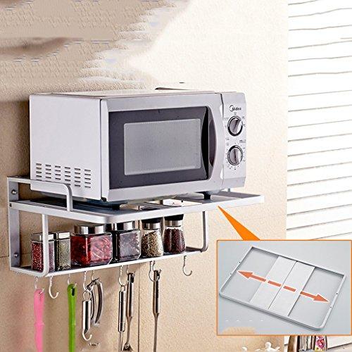 Preisvergleich Produktbild QFF Space Aluminium Mikrowelle Regal Regal Wand Küche Racks Lagerung Rack 2 Layer Ofen Rack Storage Rack Zubehör