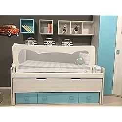 Barrera de cama para bebé, 180 x 65 cm.