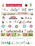 Christmas Holiday Washi tape set per regali/Arts/Crafts/scrapbooking/diario decorativo (multi-colori) 10 Rolls Set B