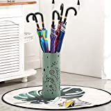 JXJJD L'ombrello d'argento del metallo del ferro del gabinetto del supporto dell'ombrello creativo della benna di immagazzinamento secchio, multi-colore facoltativo (colore : Verde)