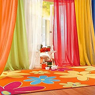 Attractive Beauty Sheer Curtain Panels Window Balcony Tulle Room Divider Assorted Scarf Sheer Voile (Light Green, 39.4