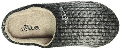 s.Oliver Damen 27101 Pantoffeln Grau (Grey/Black 227)