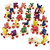 Lakshya-Wooden A to Z Train Set    Multiple Coloured    26 Alphabet with Engine and Last Trail in Fine Finish Quality